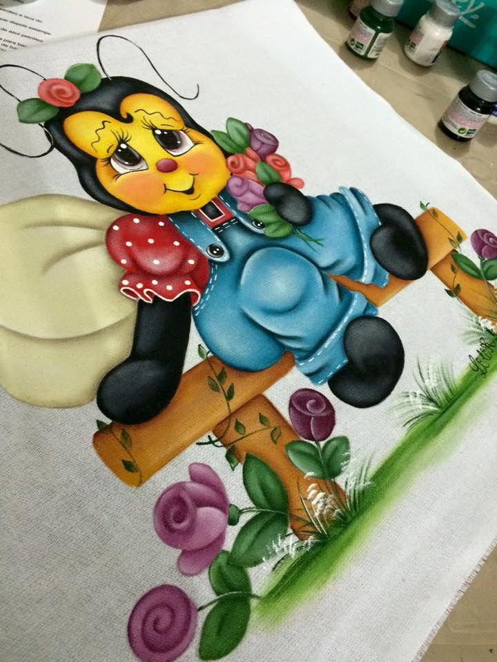 Pano de copa abelinha | Lilik arts atelie | Elo7