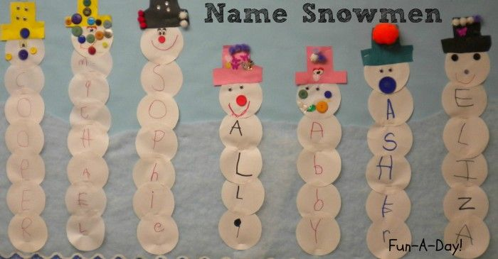 15+ Name Activities for Preschoolers - Fun-A-Day!