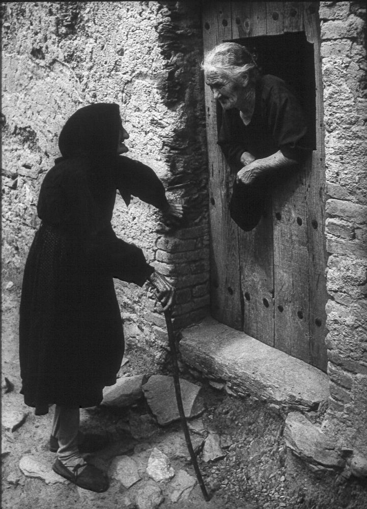 "Two Women Talking  //   W. Eugene Smith's photo essay ""Spanish Village"" shot in Deleitosa - 1951"