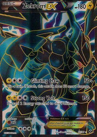Printable Legendary Pokemon Cards | ... card zekrom ex 97 99 the pokemon trading card game single holo rare