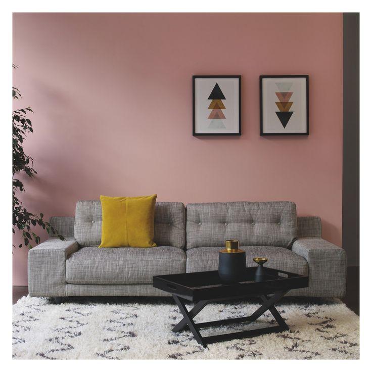 HENDRICKS Black and white Italian Woven fabric 3 seater sofa | Buy now at Habitat UK