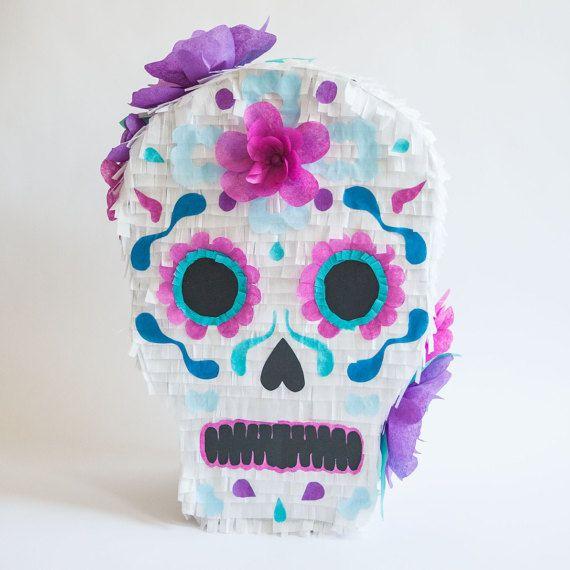 Sugar Skull Piñata by LiahAlinasParty on Etsy