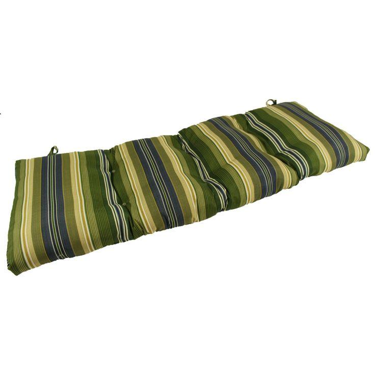 Lava Calista Stripe Delft Sunbrella Outdoor Bench/Glider Cushion - LAVA26-0083