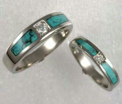 17 Best ideas about Turquoise Wedding Rings on Pinterest