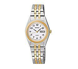 Seiko Women's Two-Tone White Dial Dress Calendar Watch