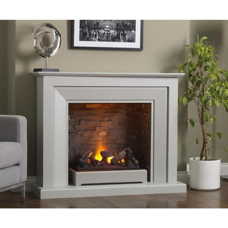 Katell Napoli free standing electric fire suite