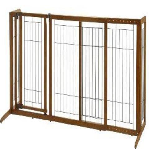 Freestanding Dog Gate with Door - Medium