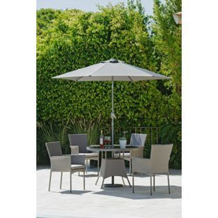 buy havana 4 seater rattan effect patio set grey at argoscouk visit argoscouk to shop online for limited stock home and garden garden furniture