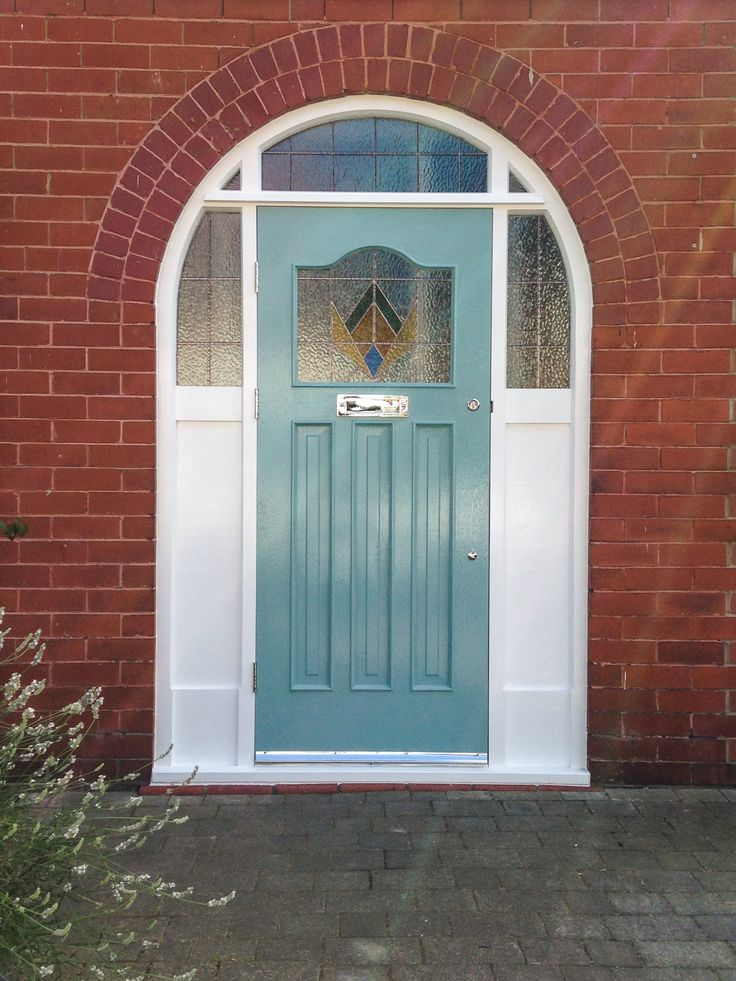 1930's Door with Arched Frame