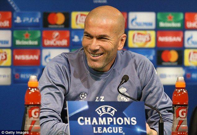 Zinedine Zidane's Real Madrid are preparing to play Sporting Lisbon on Tuesday night