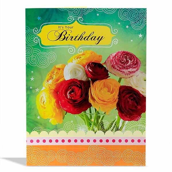 Beautiful Birthday Jumbo Card It's your birthday.. Said the perfect time to celebrate the amazing person that you are.Because you're someone who has touched so many lives with your sweetness and you deserve all the good things that has to offer.wishing you loads of pleasure surprises and a bouquet of happiness. Have A Wonderful Birthday.. Card Size : Height : 22.5 inch Length : 17.5 inch | Rs. 374 | Shop Now…