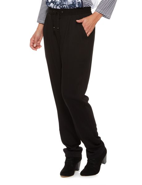A pair of relaxed soft jogger pull-on pants which have a drawcord. #NewandNow