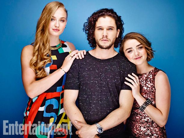 Sophie Turner, Kit Harington, Maisie Williams, Game of Thrones. See more stunning star portraits from our photo studio at San Diego Comic-Con 2014 here: http://www.ew.com/ew/gallery/0,,20399642_20837150,00.html