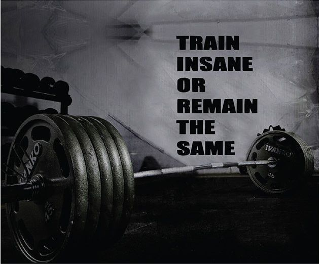 Fitness Motivation Home Gym Wall Decal - Train Insane Or Remain The Same Wall Decal