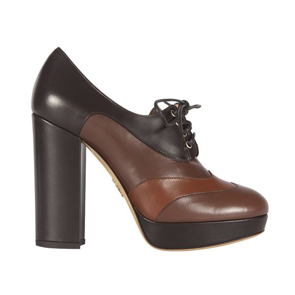 Leather high heels from #Bally