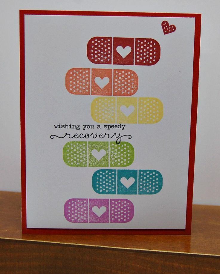 Kiss it Better speedy recovery card by Lynn Darda
