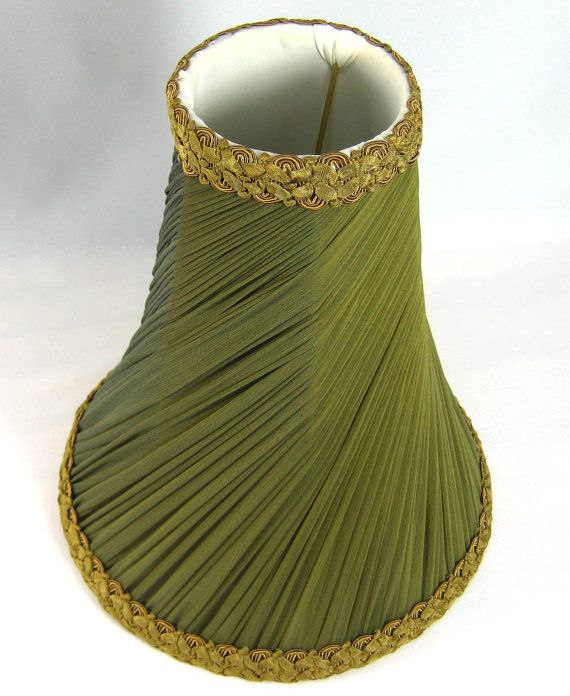 olive green lamp shades and chiffon on pinterest. Black Bedroom Furniture Sets. Home Design Ideas