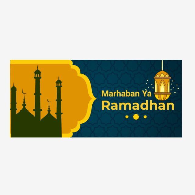 Flat Design Ramadan Banner Template Design Free Vector Banner Template Design Vector Free Banner Template