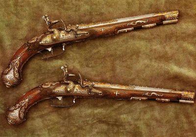 Dresden Armory (Rüstkammer). Wheellock Pistol, Suhl, 1741