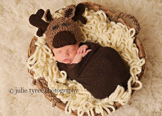 Baby Moose Hat - This may be next on the list to make!