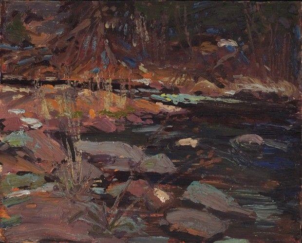 Tom Thomson - Potter's Creek  Canoe Lake Spring, 1916(8.5 x 10.5 Oil on panel)