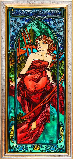 Le Matin (Morning) - Stained Glass   Has the right vintage look for my bedroom and still adds great color!