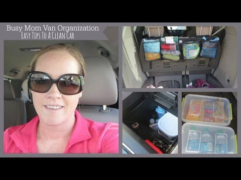 Mini Van Organization | Tips To Keep A Clean Car - YouTube