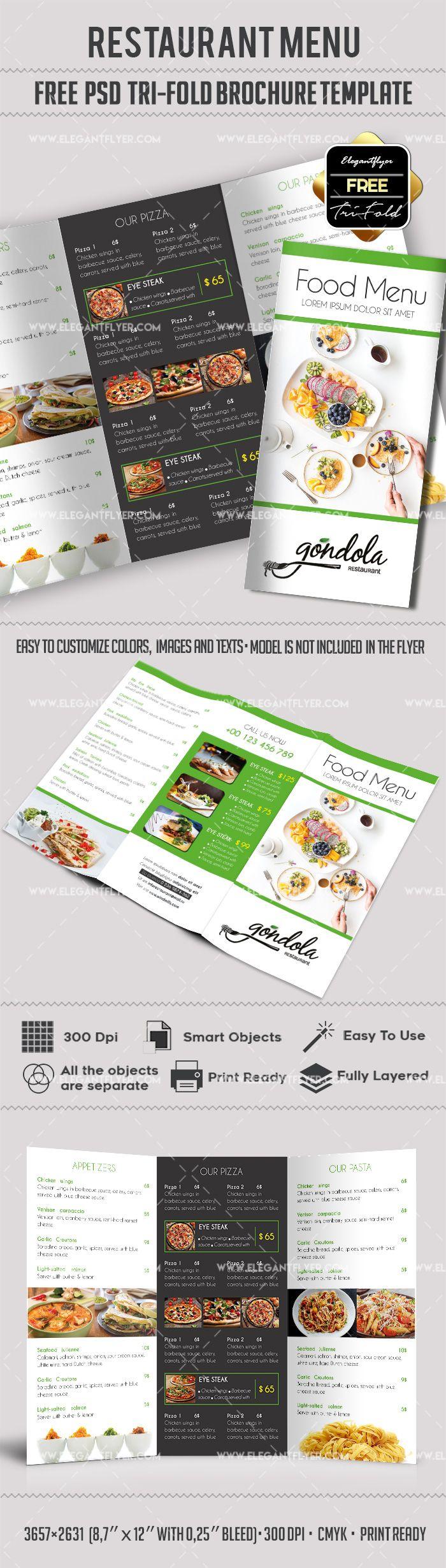 Best restaurant brochure ideas on pinterest menus
