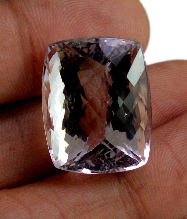 40ct VS Big Rare Natural Lieght Purple Amethyst Quartz Faceted Loose Gemstone #krishnagemsnjewels