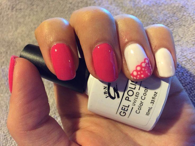 Nail art. Lace.  www.gelpolish.co.nz