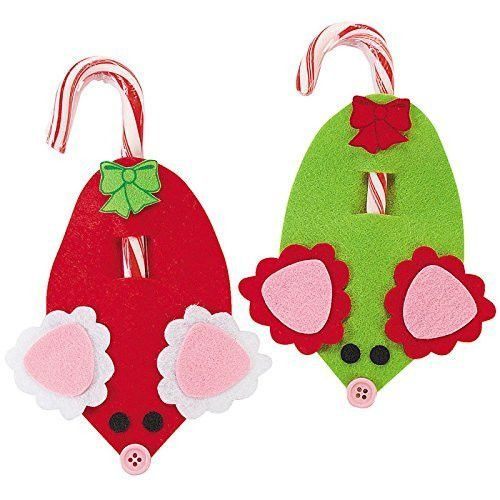 Mouse Candy Cane Craft Kit - Crafts for Kids Decoration Crafts-Makes 24
