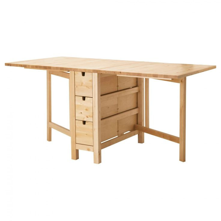 Affordable Natural Finish Oak Wood Ikea Dining Tables Storage Folding Base For Supported Extension Top Also Added Drawer With Glass Table Set And