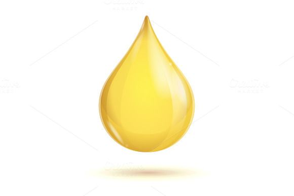 Transparent oil drop isolated on white background. EPS and high resolution JPG in ZIP.