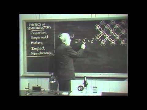 AT&T Archives: Dr. Walter Brattain on Semiconductor Physics (Bonus Edition) - YouTube
