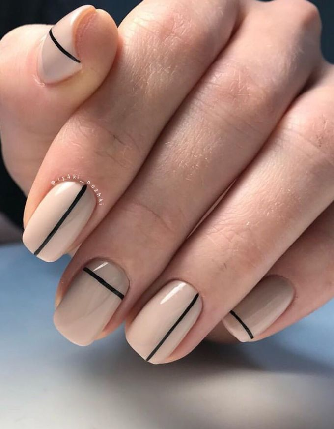 56 Chic Natural Short Sqaure Nails Design-Ideen für jeden Anlass – Seite 6 von 56