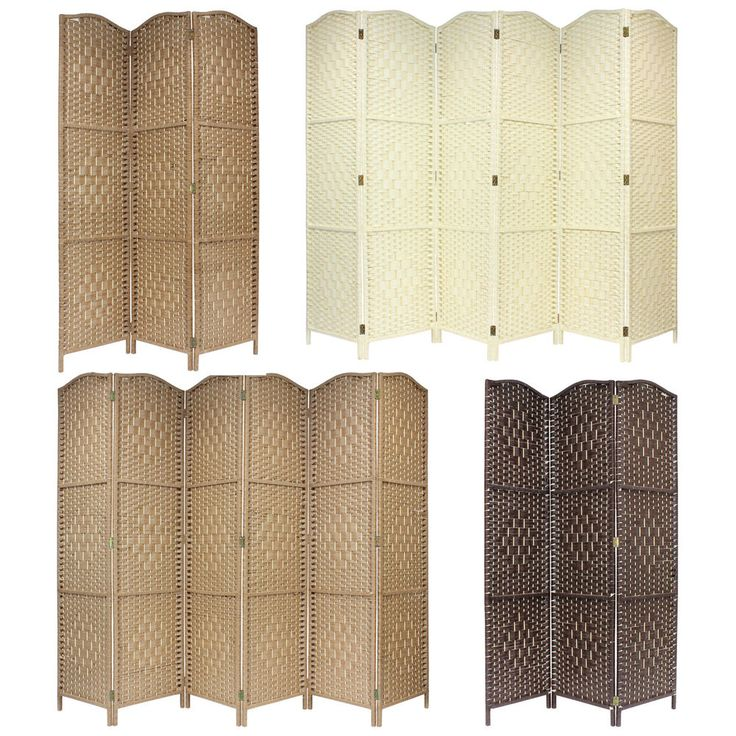 solid weave hand made wicker folding room divider screenpanel folding room dividers screens and easy storage