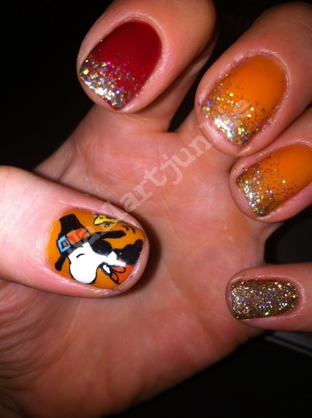 Thanksgiving Nails MINUS The Peanuts! Love Everything But