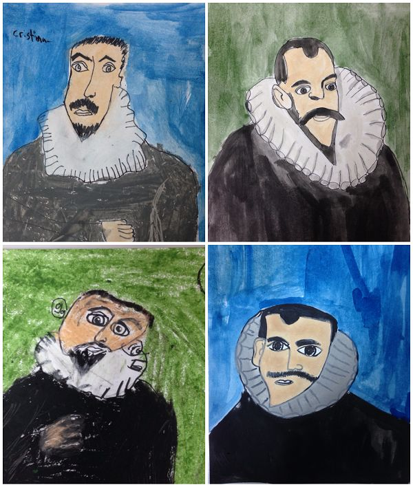 Retratos Greco para niños. El Greco for kids, art project for kids, great class for portrait