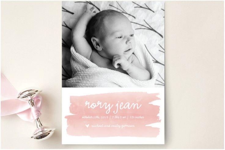Inspiration fürs Baby: Die Geburtsanzeige. / a lovely journey | Inspirationen + DIY für junge Familien