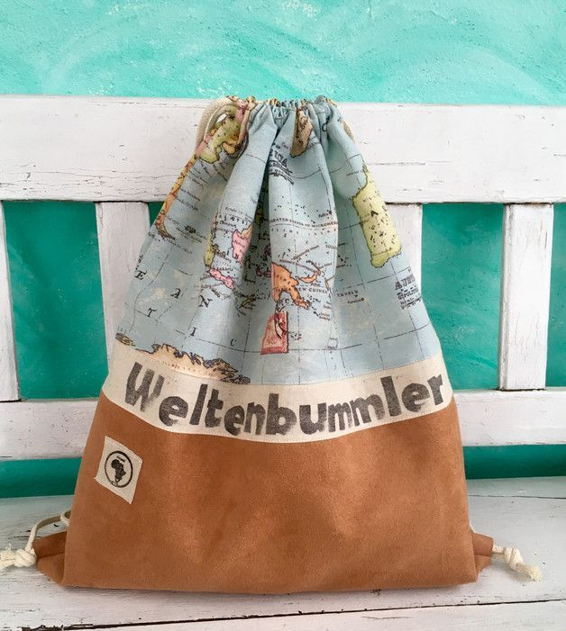 Stoffbeutel für Weltenbummler: Die perfekte Reisetasche als Handgepäck auf langen Reisen, Fernweh / textile bag for globetrotter: the perfect travel bag as hand-luggage on long travels, wanderlust made by Mzansi-by-vs via DaWanda.com