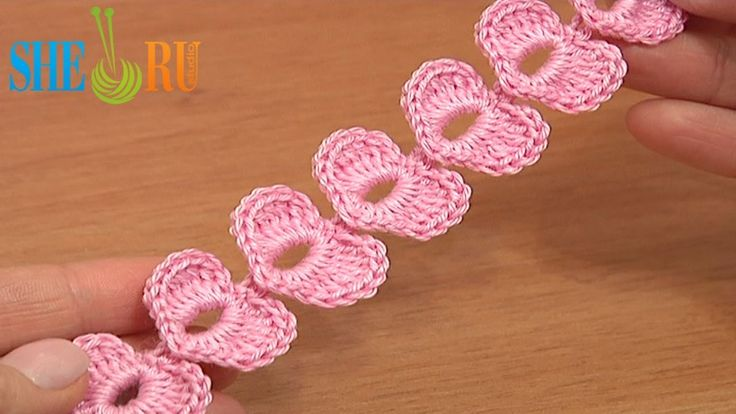 Crochet Cord Heart Elements Tutorial. Crochet Small Hearts suitable to decorate baby items.