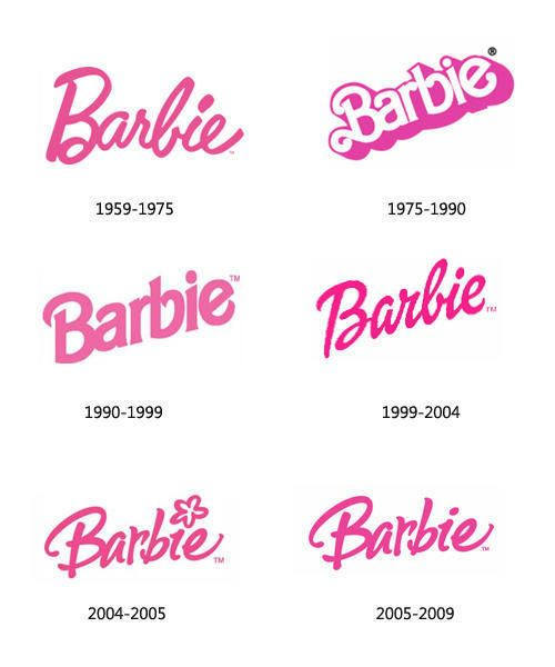 Barbie Logo Old History Evolution | Big Orange Couch, I ...