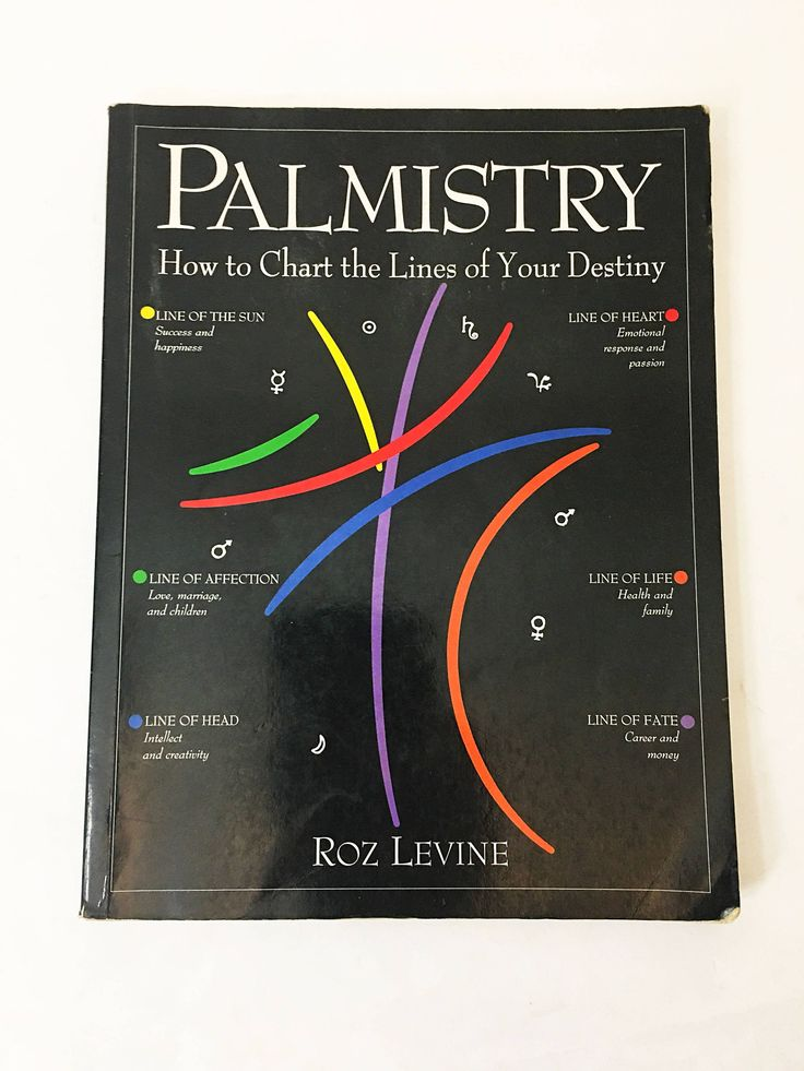 Palmistry by LEVINE, Roz. How to Chart the Lines of Your Destiny. Roz Levine. Occult. Numerology. Fortune. Future.