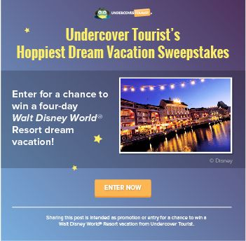 We're giving away a four-day dream Walt Disney World® vacation to one lucky family! #UndercoverTourist #Disney #Giveaway