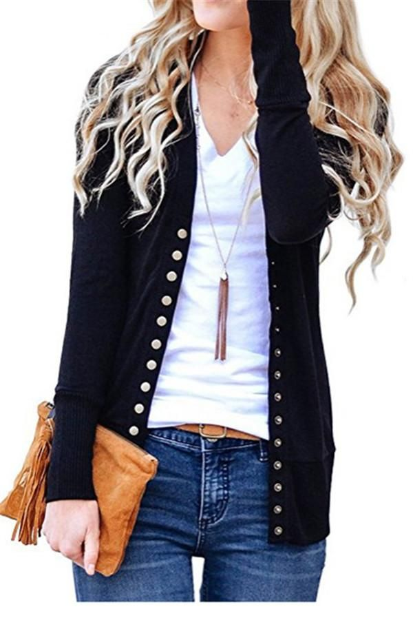 edfb8102f2235 Chicnico Lightweight Button Up Cardigan | Clothes | Outerwear ...