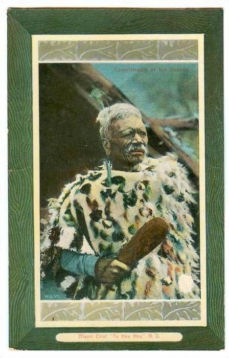 Maori Chief Te Heu Heu, New Zealand, 1900-1910s - bidStart (item 30843216 in Postcards... New Zealand)