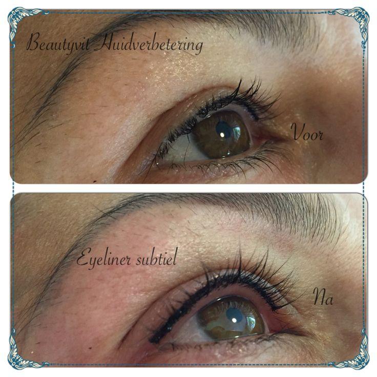 Subtiele eyeliner boven. Beautyvit Huidverbetering Dreef 10 4813eg Breda 0765223838 info@beautyvit.nl www.beautyvit.nl