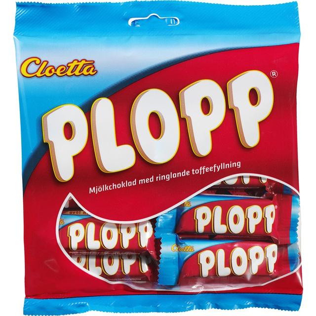 Cloetta Plopp - Milk Chocolate Bites with Soft Toffee Filling at Ocado