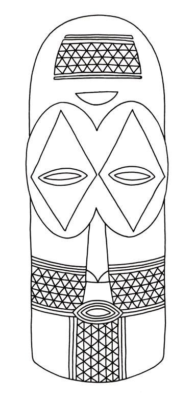8 best african masks template images on pinterest mask for Printable african masks coloring pages