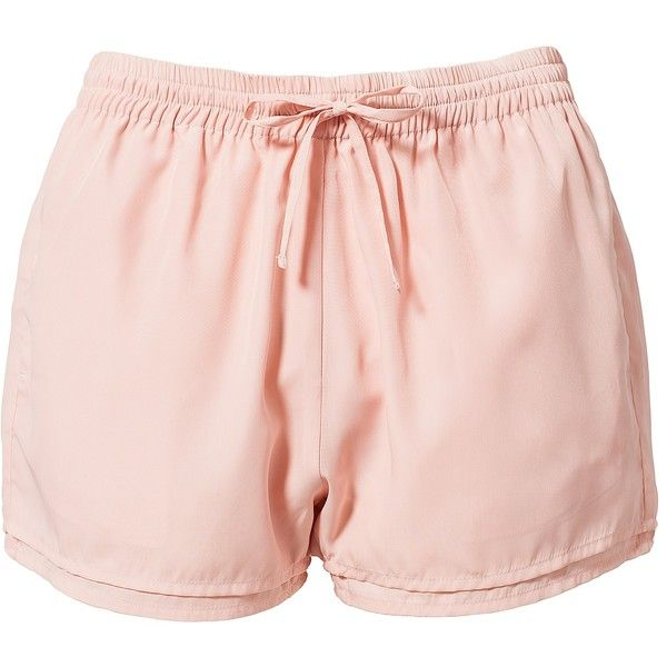 Estradeur Smilla Shorts ($20) ❤ liked on Polyvore featuring shorts, bottoms, pajamas, light pink, trousers & shorts, tall shorts, pocket shorts, light pink shorts and elastic shorts
